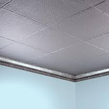 Grey Border Tiles Fasade Ceiling Tile 2x4 Direct Apply Hammered Border Fill In