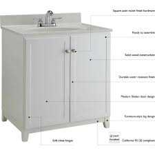 Ready To Assemble Bathroom Vanity by Design House Dnh 547117 Shorewood Semi Gloss White Single Basin