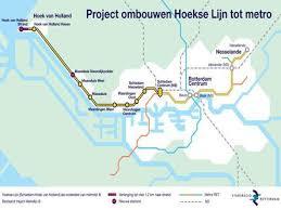 rotterdam netherlands metro map hoek railway to be converted to metro railway gazette