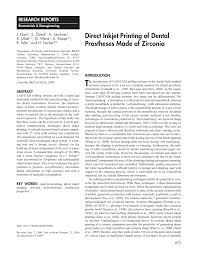 direct inkjet printing of dental prostheses made of zirconia pdf