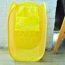 cute laundry hamper peanuts snoopy collapsible mesh laundry hamper breathable yellow