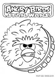 printable angry birds star wars chewbacca coloring