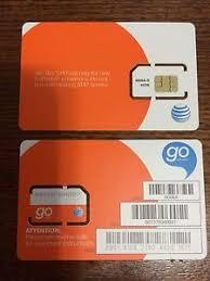 ready prepaid card new at t sim card prepaid go phone ready to activate standard size
