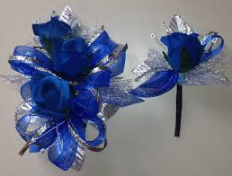 royal blue corsage and boutonniere royal blue silk corsage n boutonniere set by florescencebydesign