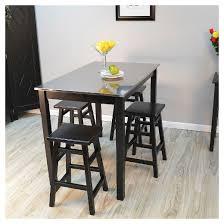 cooper stainless steel top bar table wood black target