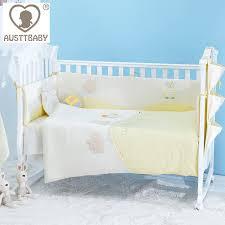 Baby Cot Bedding Sets 100 Cotton Multifunctional Sleeping Bag 4 Set Baby Cot