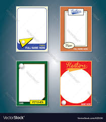 mixed sports trading cards royalty free vector image