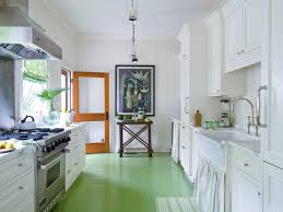 All White Kitchen Cabinets Kitchen Style Coastal Kitchen Design Green Laminate Wood Floors