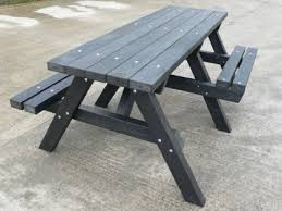 recycled plastic picnic tables recycled plastic picnic table ribble range with wheelchair access