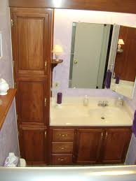 bathroom vanity with linen cabinet office table