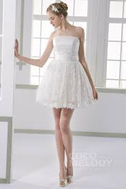 a linie tragerlos kurz mini satin brautkleid mit ups p80 kurze hochzeitskleider und empfangskleider cocomelody de