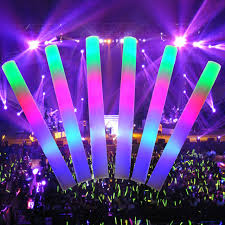 glow sticks free sat 24 pcs led colorful concert party club cheer sponge
