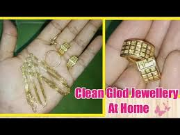 how to clean gold jewelry at home home tips cleaning and shine