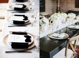 black and white wedding decorations 58 black and white wedding table settings happywedd