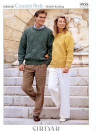sirdar country style dk knitting pattern 9958 unisex sweater for