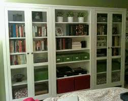 Glass Bookcase With Doors Bookshelves With Glass Doors