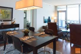 high rise kitchen table modern living room interior decorating project in chicago design