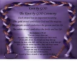 three cords wedding ceremony knot by god cord of three strands weddings wedding and unity