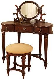 Antique Vanity With Mirror And Bench - amazon com powell antique mahogany vanity mirror and bench