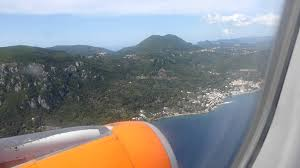 landing at corfu easyjet a320 luton to corfu youtube