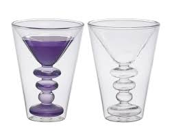 cocktail martini bitossi home martini cocktail double wall set of 2 amazon co uk
