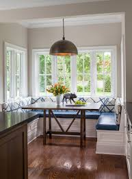 Eat In Kitchen Table Eat In Kitchen Nook Window Seating Blue Booth Style Seating