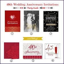 40th anniversary invitations 40th wedding anniversary party guide ruby inspired