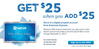 serve prepaid card serve free 25 when you add 25 to your prepaid card money