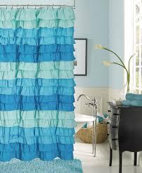 Brown Ruffle Shower Curtain by Bathroom Ruffle Shower Curtain With White Curtain And Brown Tile