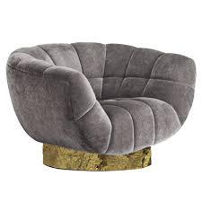 armchair modern european modern cotton velvet and brass essex armchair from brabbu