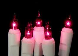 set of 10 battery operated pinkish purple mini christmas lights