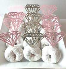 Bridal Shower Decor by Diamond Cupcake Topper Donut Toppers Diamond Shaped Donut Topper