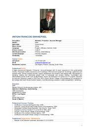 How To Spell Resume Anton Francois Swanepoel Professional Cv U0026 Career Profile 3