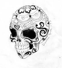 the sugar skull tatttoo sketch design by dorothea barre tattoomagz