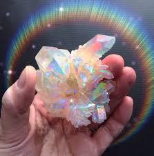 aura crystals angel aura opal aura crystal quartz cluster large by lotusfairy