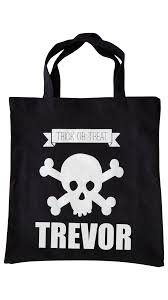 canvas halloween trick or treat tote my vinyl direct