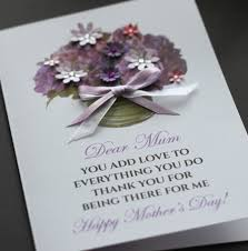 large handmade personalised purple bouquet mother u0027s day card mum