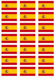 Picture Of Spain Flag Spain Flag Stickers 21 Per Sheet