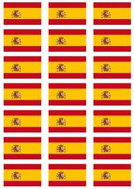 The Spain Flag Spain Flag Stickers 21 Per Sheet