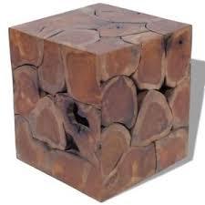 teak wood side table vidaxl solid teak wood side coffee table teakwood stool plant stand