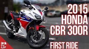 brand new honda cbr 2015 honda cbr 300r first ride youtube