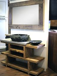 mobile bagno grezzo gallery of mobile bagno in legno etnico iroko con lavabo in radice