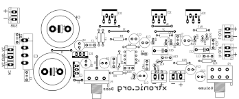 circuit power audio amplifier with tda2030 x watts pcb layout