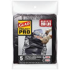 Contractor Shop Glad Contractor 5 Count 42 Gallon Black Construction Trash