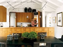Track Lighting For Kitchen Ceiling A Balance Of Modern And Traditional Is Exemplified In This Cottage