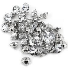 Tufting Sofa by 50x Crystal Rhinestone Diamante Round Buttons Headboard Tufting