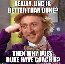 Coach K Memes - creepy condescending wonka meme imgflip