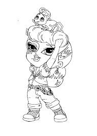 abbey bominable coloring pages little monster high operetta coloring page monster high coloring