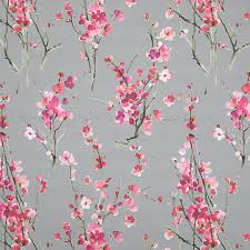 Seville Curtains Buy Voyage Seville Blossom Furnishing Fabric Slate At