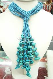 beautiful beads necklace images 2018 beautiful 48 4mm turquoise beads necklace from chuangren jpg